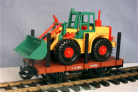Flachwagen mit Schaufellader (Flatcar with wheel loader)