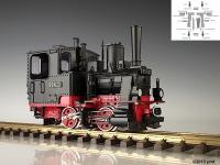 DR Dampflok (Steam locomotive) 99023