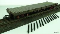 Guayaquil - Quito Flachwagen mit Rungen (Flat car with stakes FE976