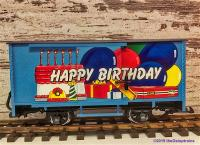 Happy Birthday Güterwagen mit Metallachsen (Boxcar with Metal wheels)) -