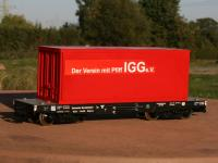 DB Schwerlastwagen (heavy duty flat car) / Container