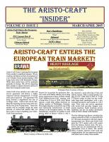 Aristocraft Insider - 2005, Iss. 2 (March/April)